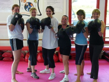 The ladies of our kickboxing class