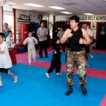 Free for all at kickboxing class