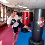 Kicks 3 at the karate school