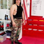 Rick in uniform after karate class