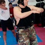 Rick Demonstrating Kickboxing Classes
