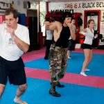 Right jab in self defence class