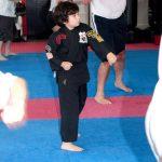Sam left karate jab