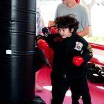 Sammy hits karate lesson
