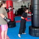 Sammy hits 2 karate lesson