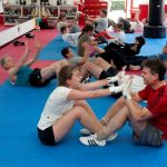 Situps 2a in martial arts class
