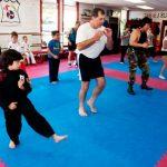 sam doing kickboxing