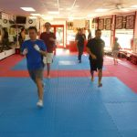 Martial arts Class Working Out