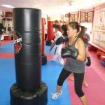 Karate Class Heavy Bag Exercise
