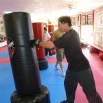 Karate Class Punching Bag Drills