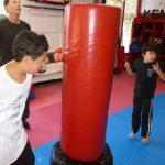 Karate Class Red Punching Bag