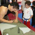 Kids Karate Training T-shirt signing