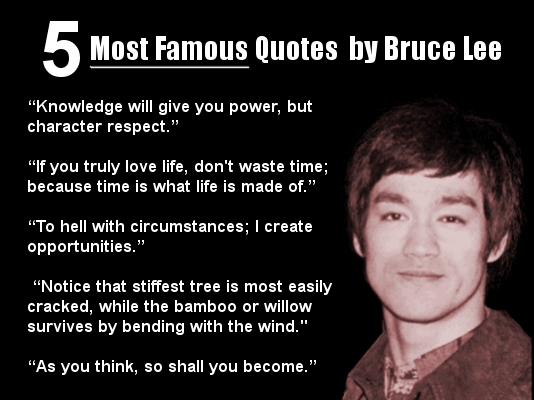 Bruce Lee 5 quotes