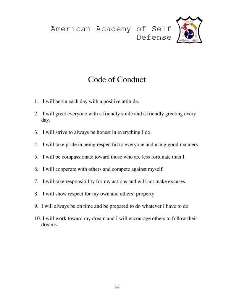 Microsoft Word - Code of Conduct.doc