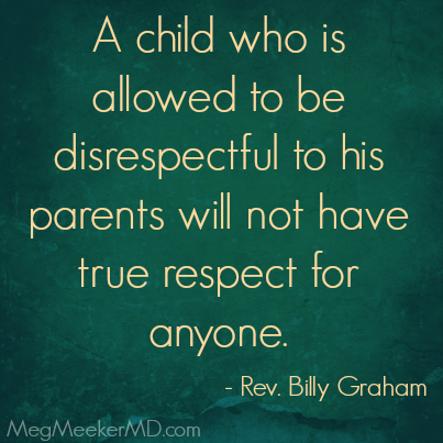 disrespect to parents