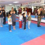 Karate Class Salute