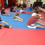 Martial arts Class Stretching