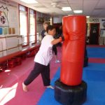 Martial arts Class Heavy Bag Punching