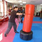 Martial arts Class Heavy Bag Blows