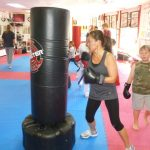 Karate Class Punching Bag Work Outs