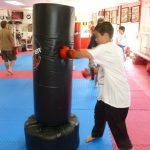 Karate Class Punching Bag Exercises