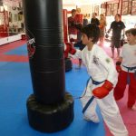 Karate Class Punching Bag Punches