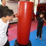 Karate Class Red Punching Bag