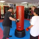 Self Desense Lesson Heavy Bag Work Out