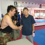 Shaking hands after Kickboxing Classes