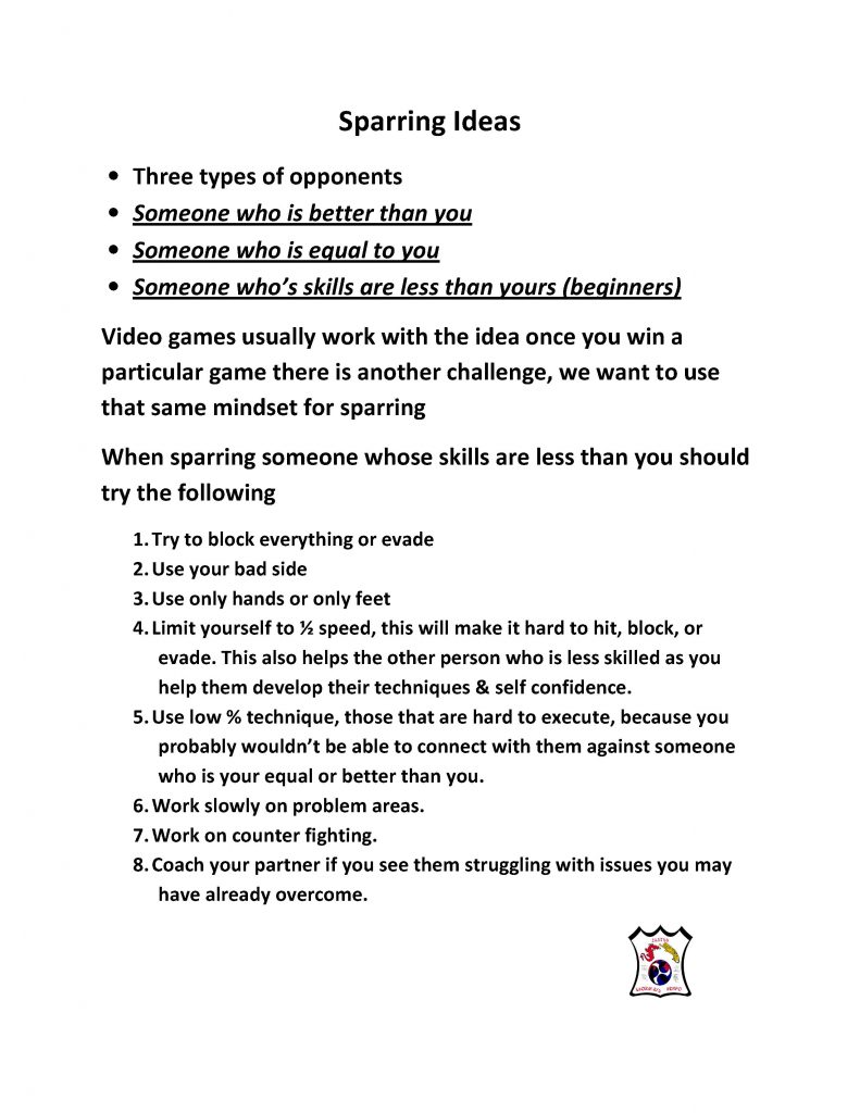 Microsoft Word - Sparring Ideas.doc
