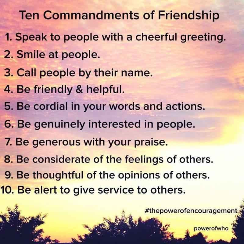 10 comamndmenst  of friendship