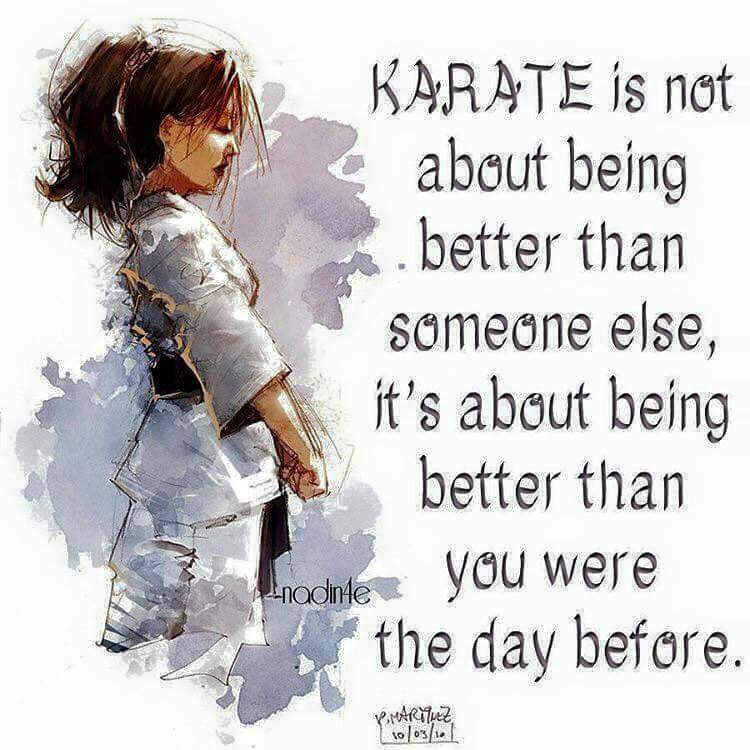 Karate is about being better than the day before